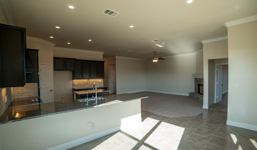 Kitchen featured in the Carol Anne By Betenbough Homes in Lubbock, TX