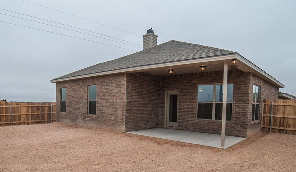 Exterior featured in the Liliana By Betenbough Homes in Lubbock, TX