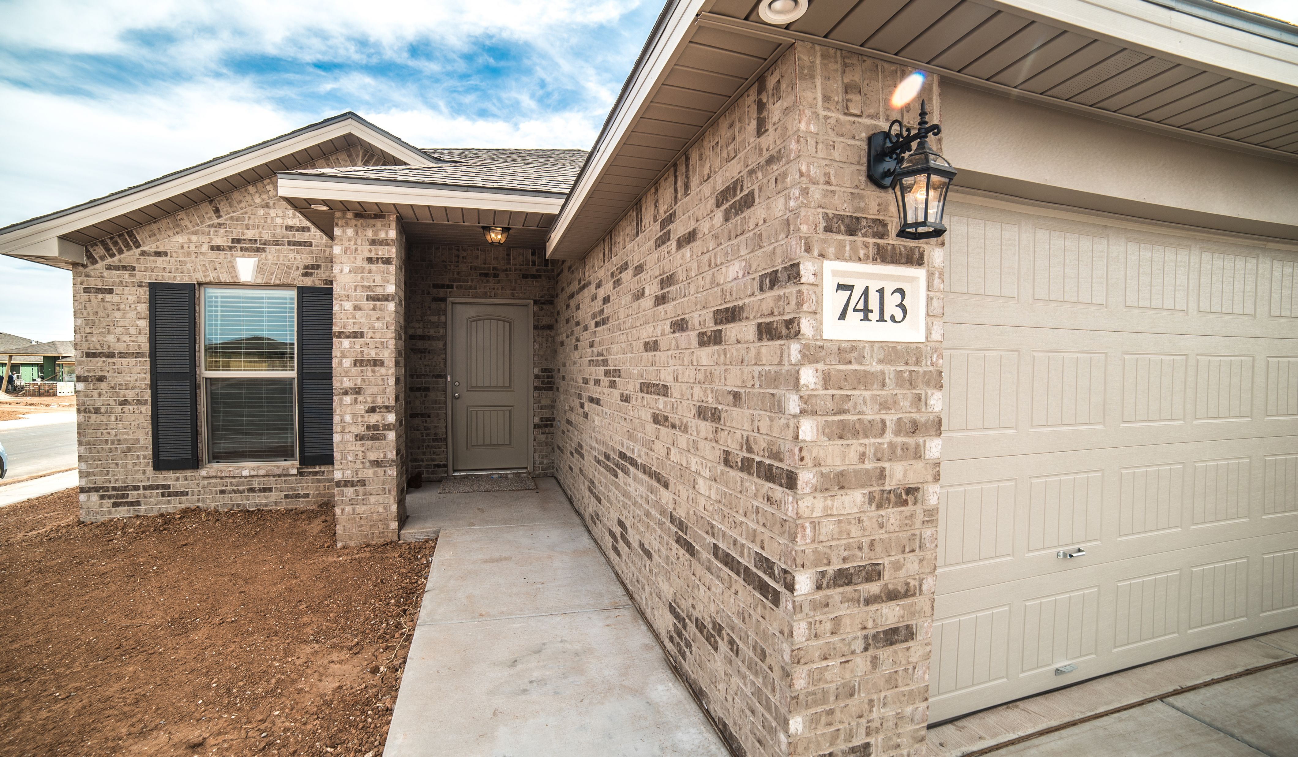 Exterior featured in the Dorris By Betenbough Homes in Lubbock, TX