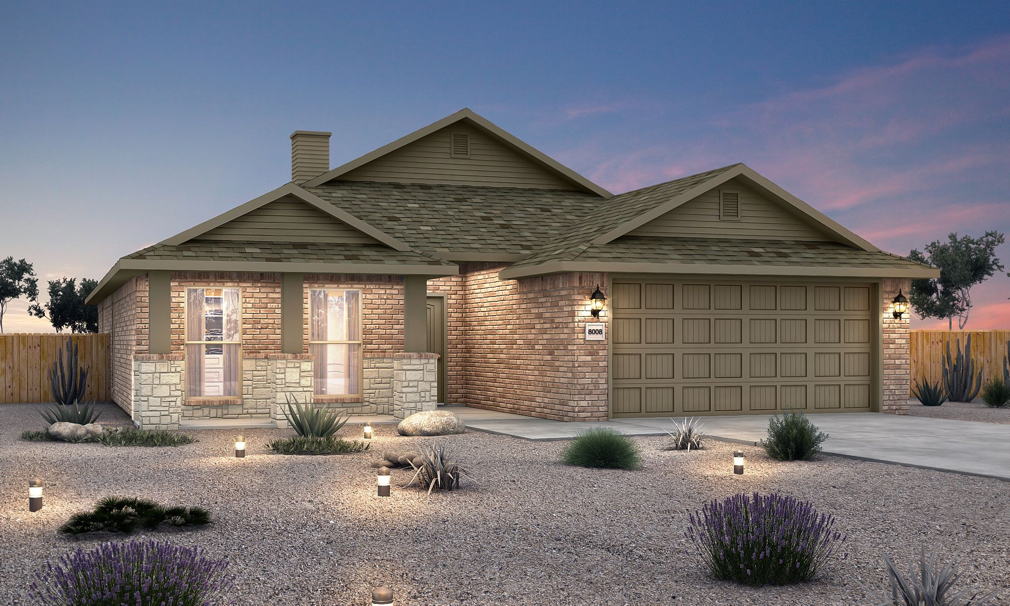 Exterior featured in the Marie By Betenbough Homes in Lubbock, TX