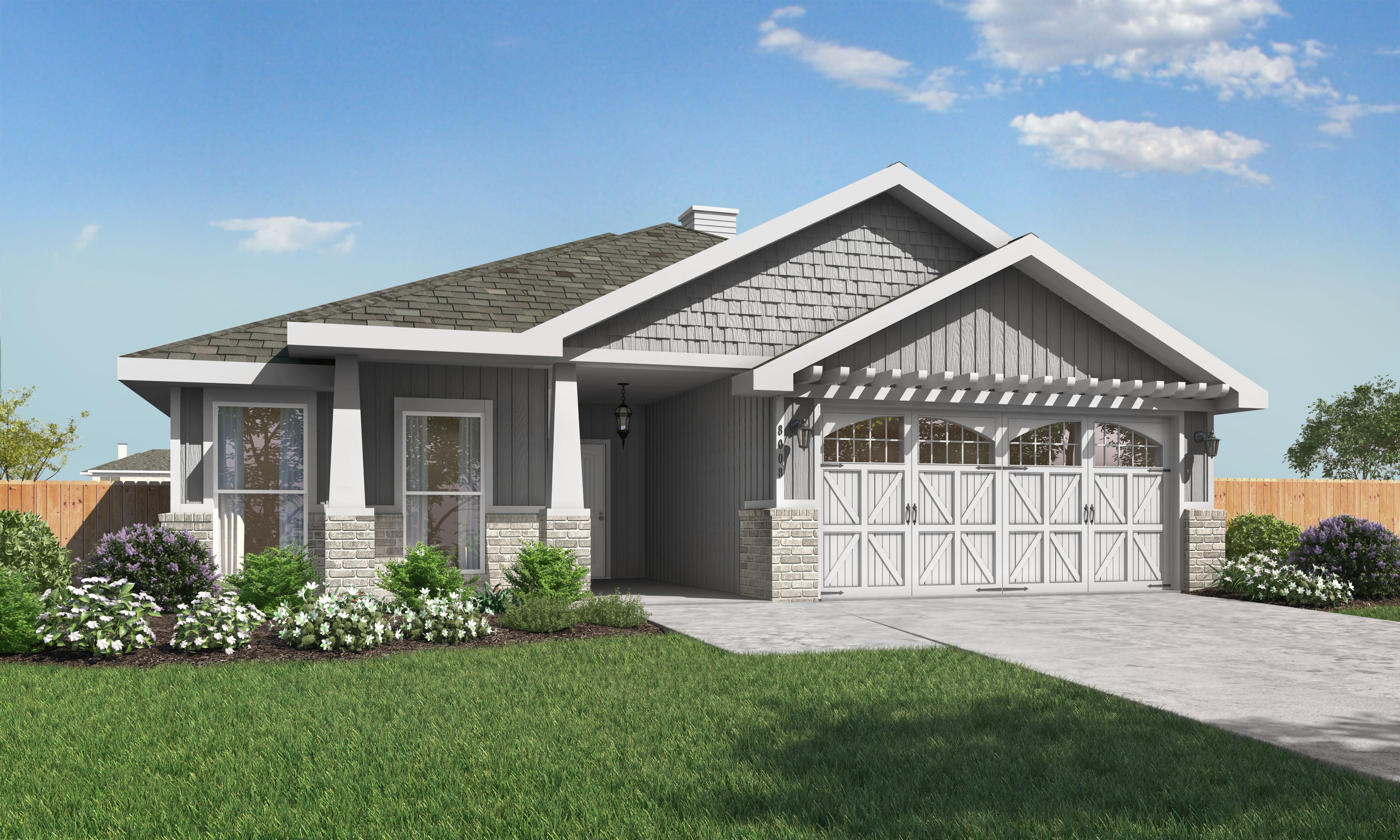 Exterior featured in the Amanda By Betenbough Homes in Lubbock, TX