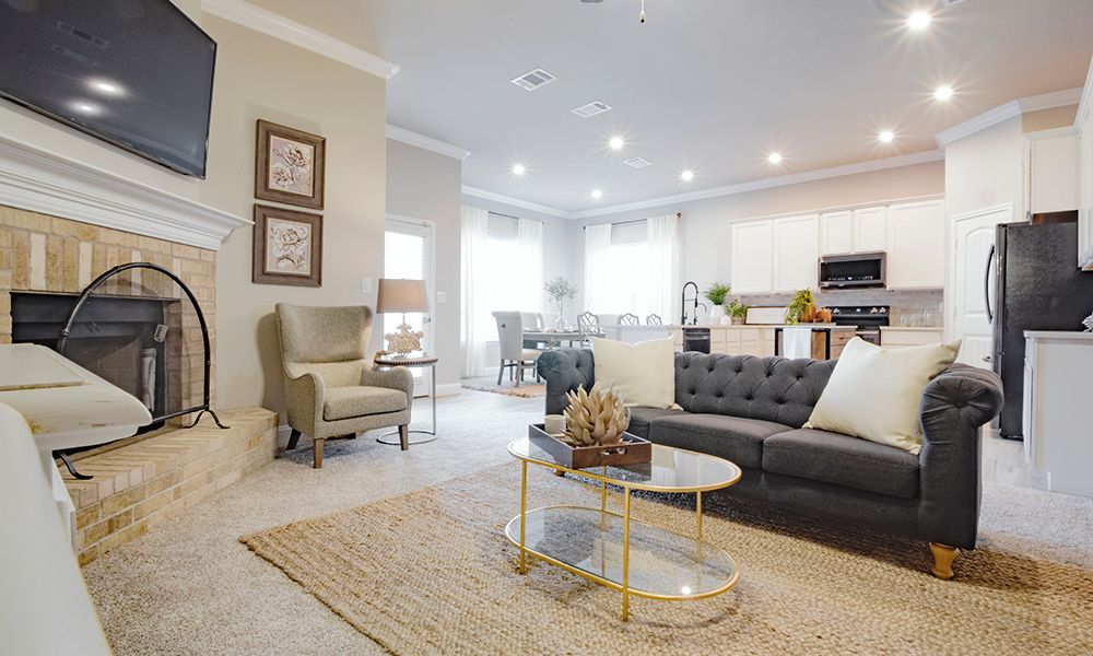 Living Area featured in the Angie By Betenbough Homes in Lubbock, TX