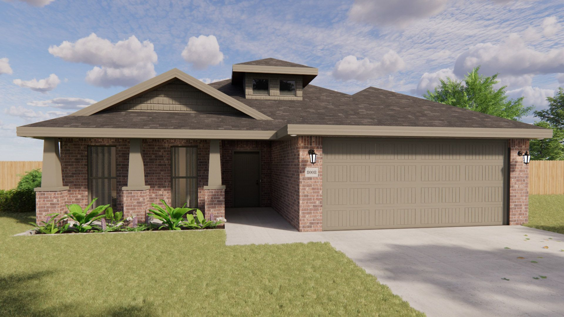 Exterior featured in the Pamela By Betenbough Homes in Lubbock, TX