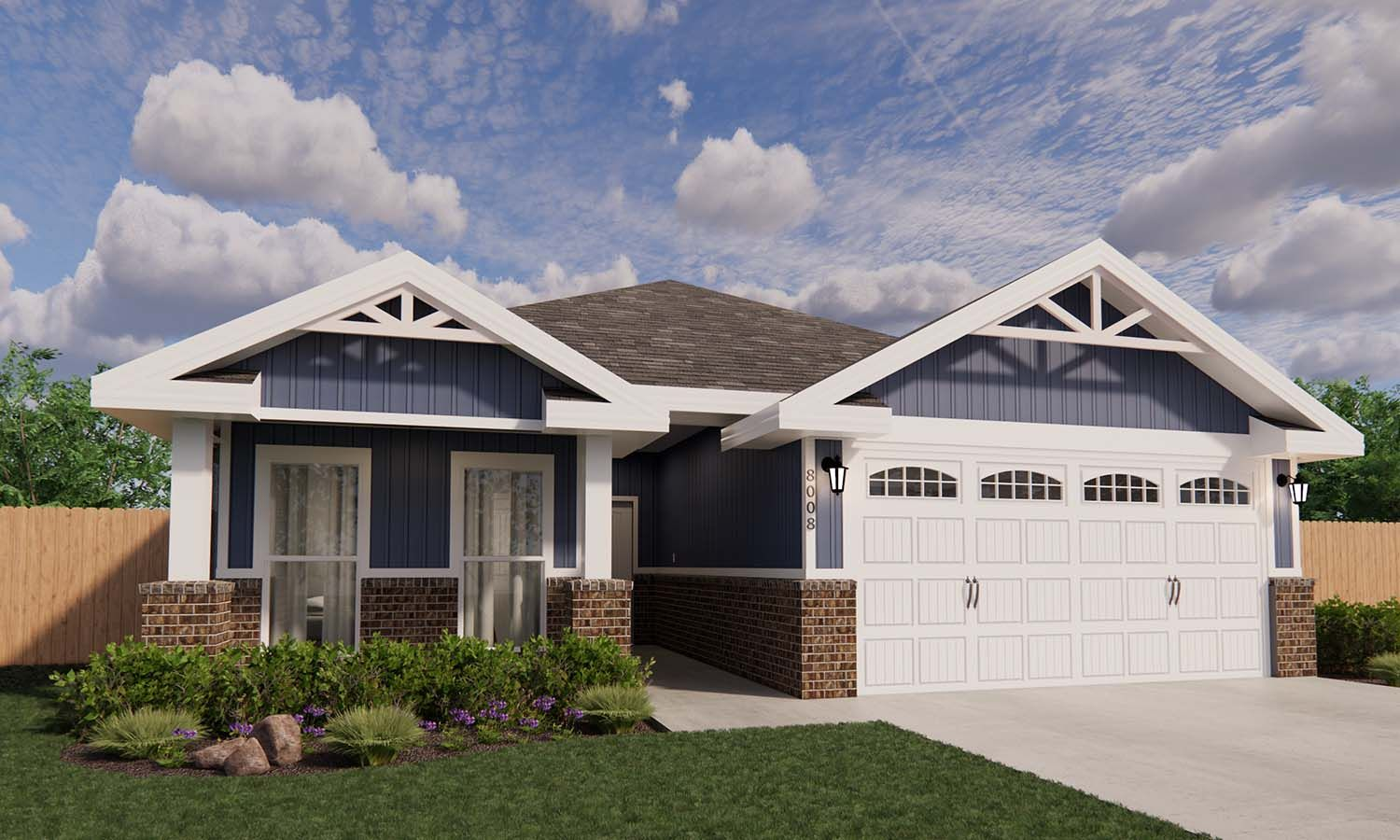 Exterior featured in the Bethany By Betenbough Homes in Lubbock, TX