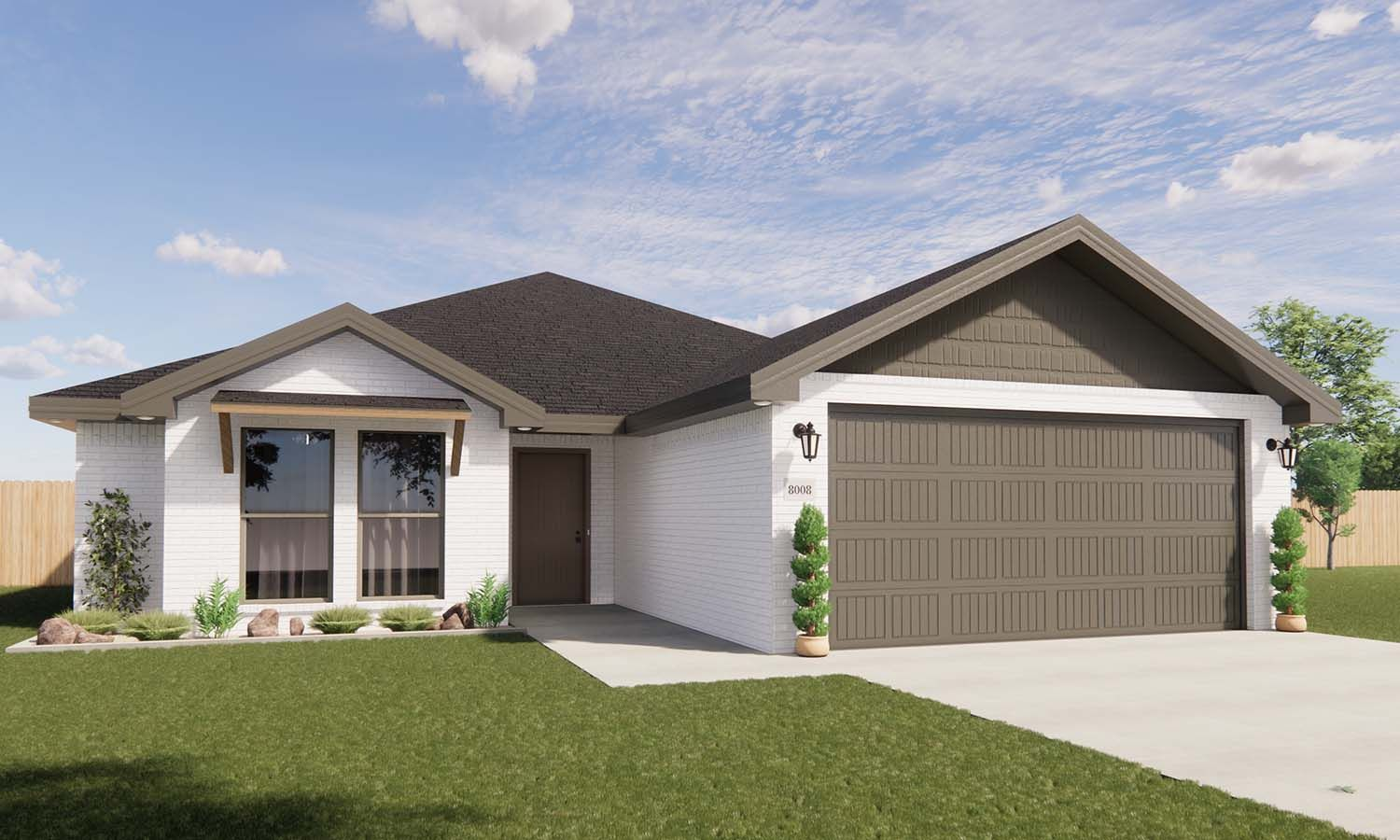 Exterior featured in the Adalynn By Betenbough Homes in Lubbock, TX