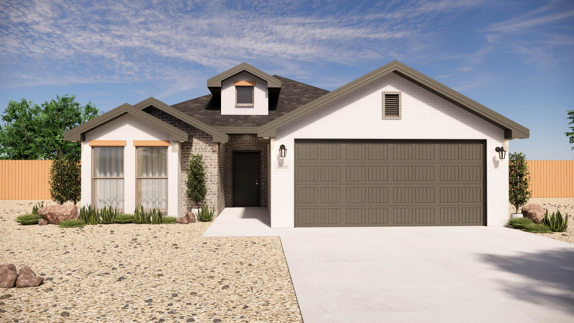 Exterior featured in the Alyssa By Betenbough Homes in Lubbock, TX