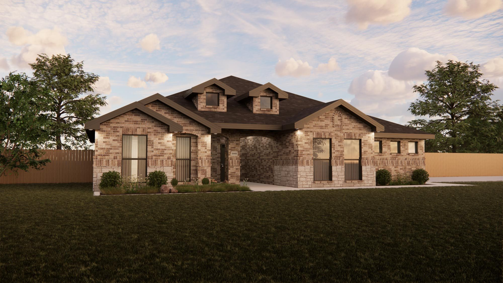 Exterior featured in the New Lady 2500 Classic Contemporary By Betenbough Homes in Lubbock, TX