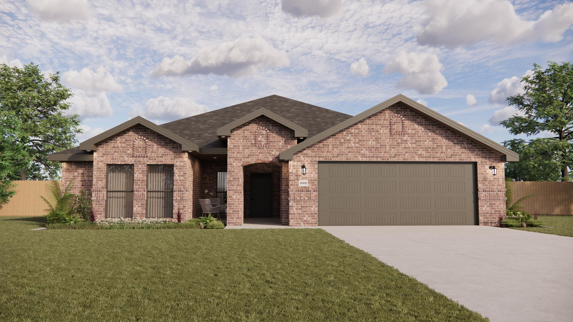 Exterior featured in the Paige By Betenbough Homes in Lubbock, TX