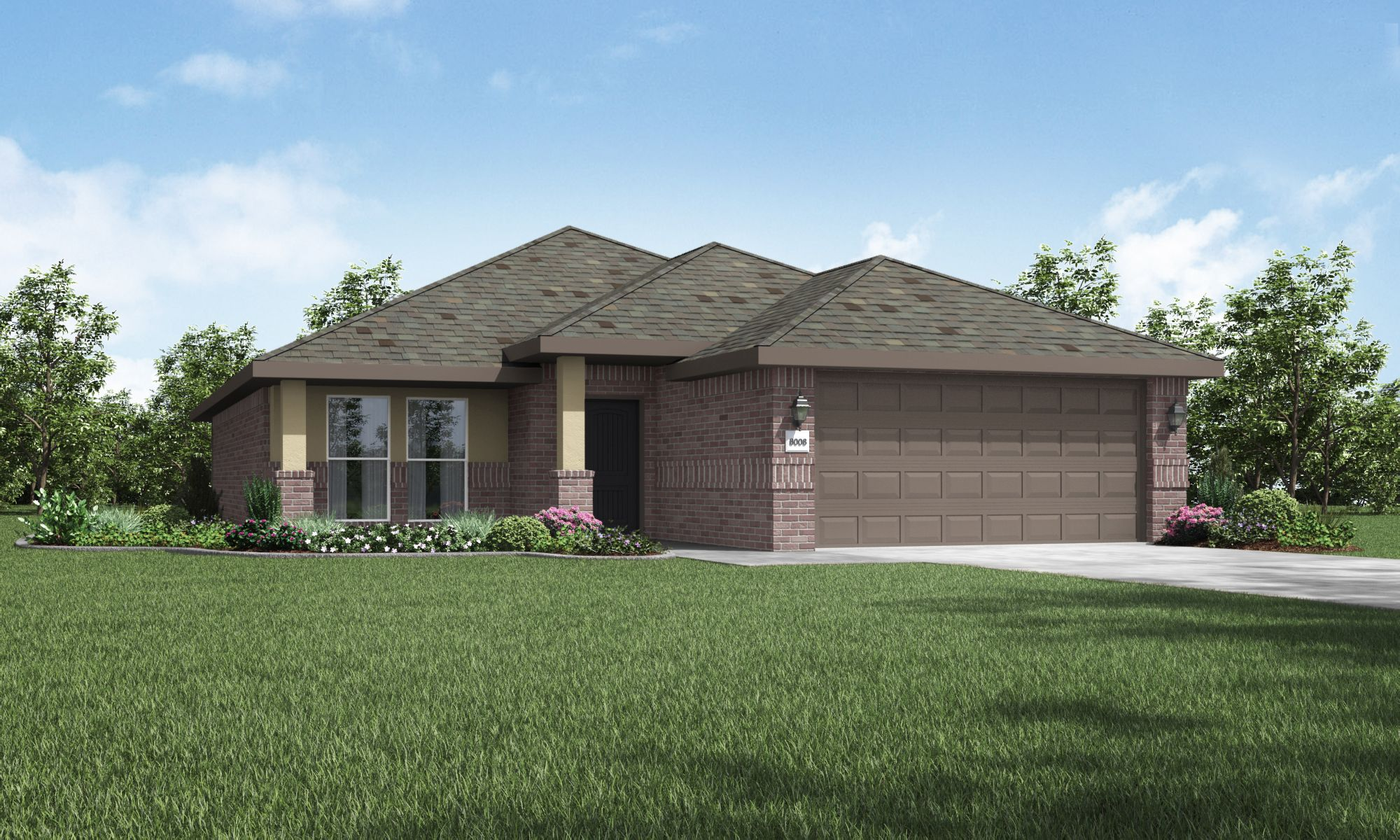 Exterior featured in the Lynn By Betenbough Homes in Amarillo, TX