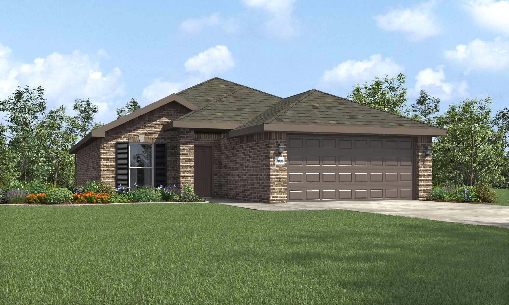Exterior featured in the Dorris By Betenbough Homes in Amarillo, TX