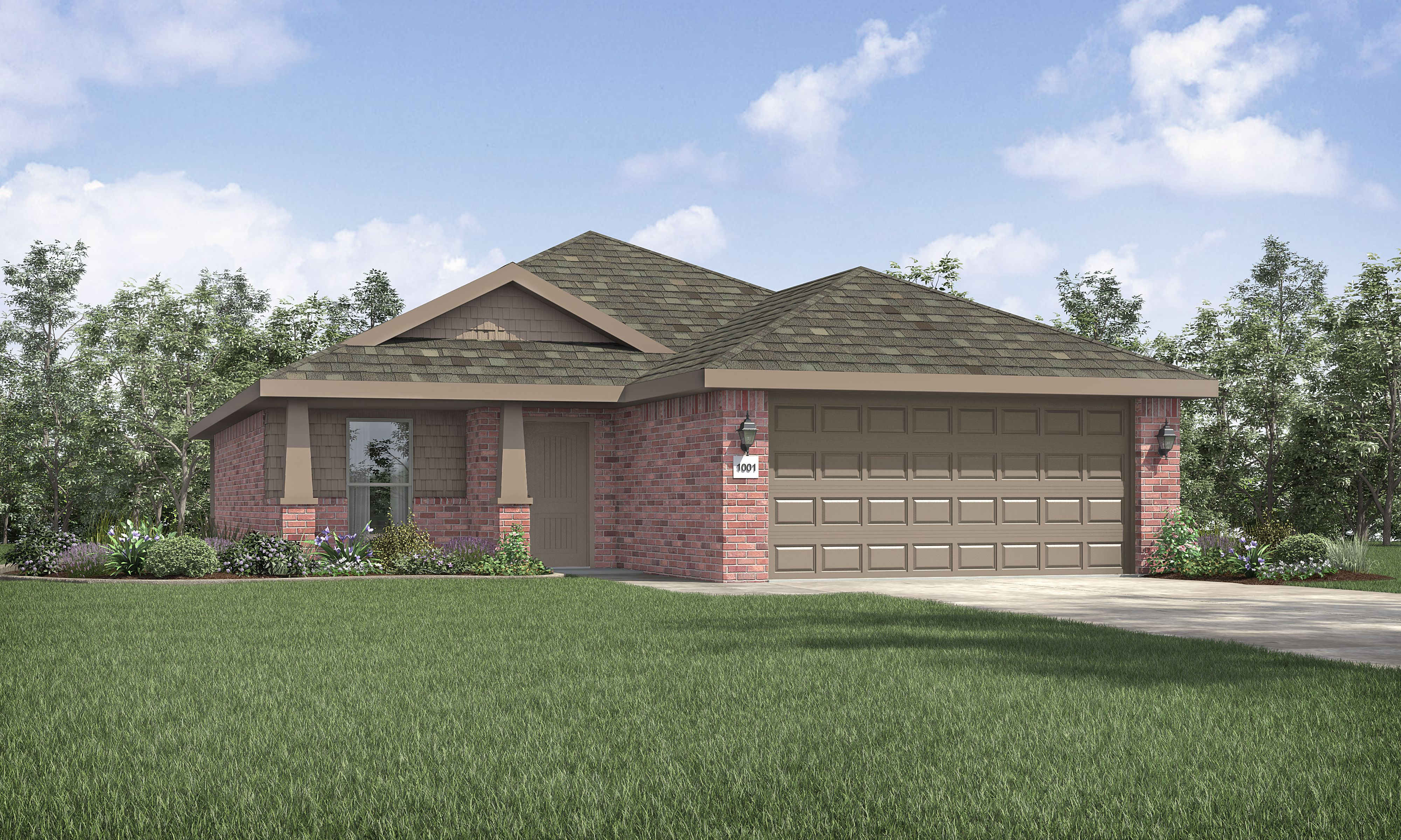 Exterior featured in the Kenlie By Betenbough Homes in Midland-Odessa, TX