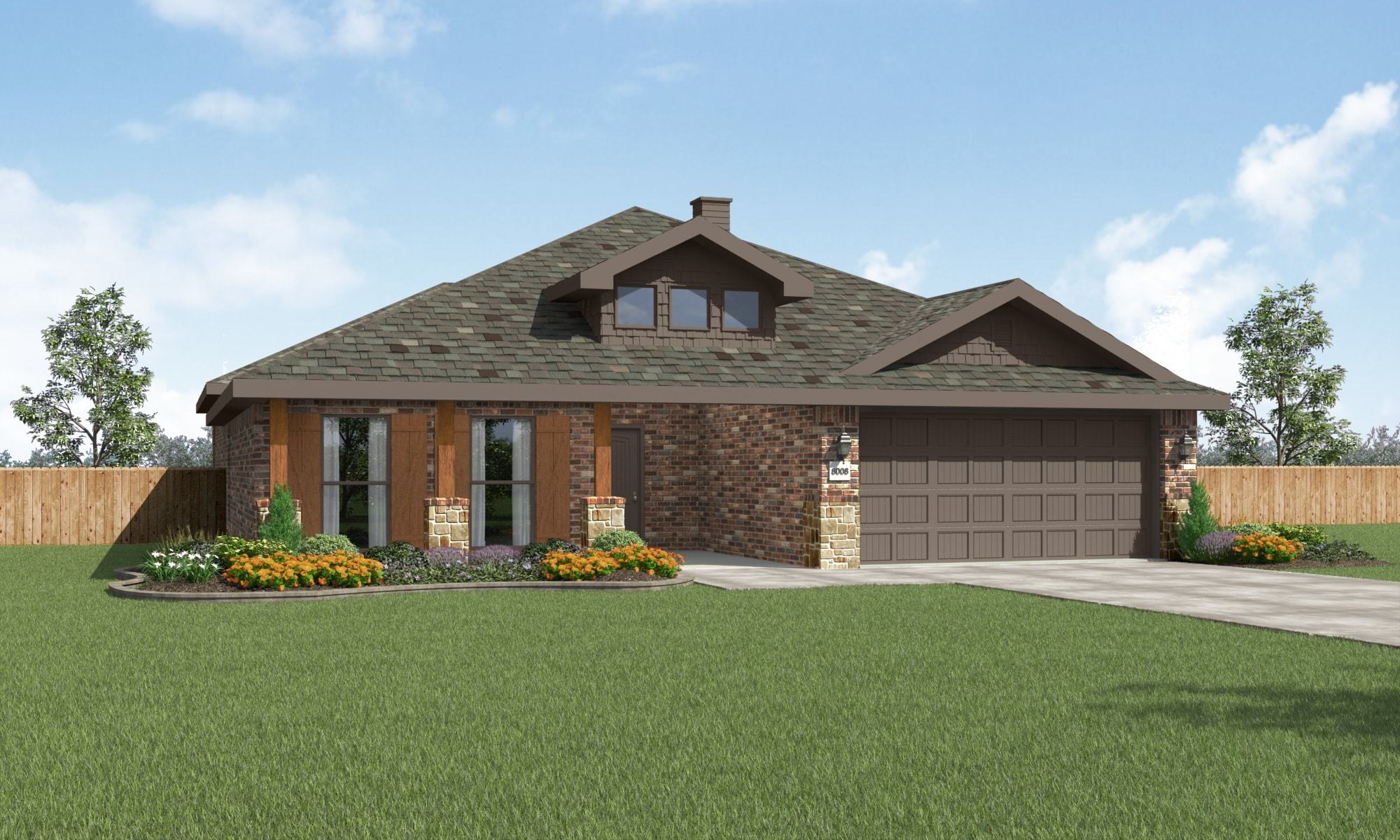 Exterior featured in the Sophia By Betenbough Homes in Midland-Odessa, TX