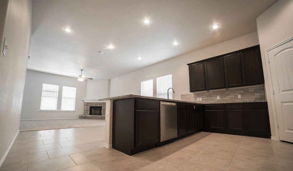 Kitchen featured in the Monique By Betenbough Homes in Midland-Odessa, TX