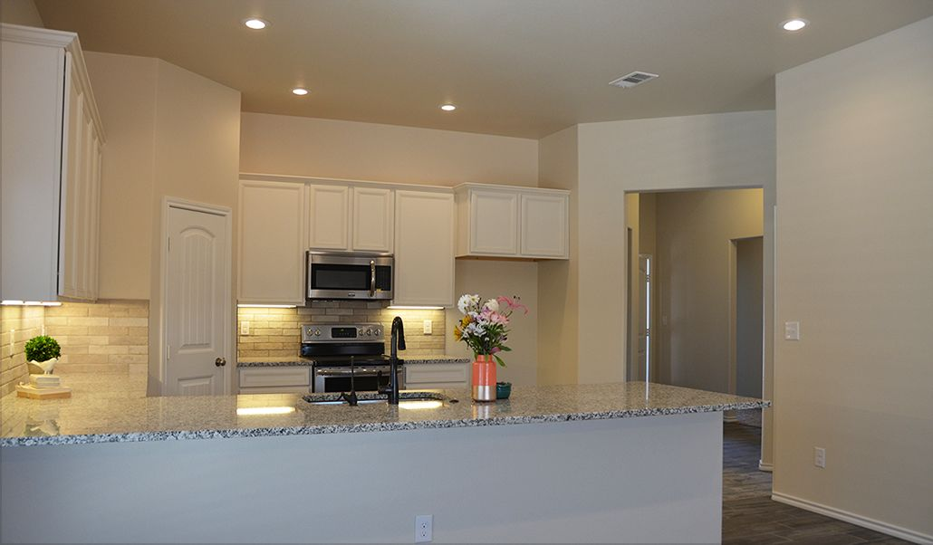 Kitchen featured in the Carmi By Betenbough Homes in Midland-Odessa, TX