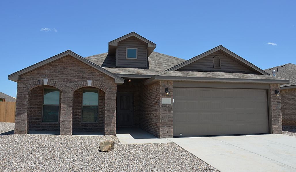Exterior featured in the Rosa By Betenbough Homes in Amarillo, TX