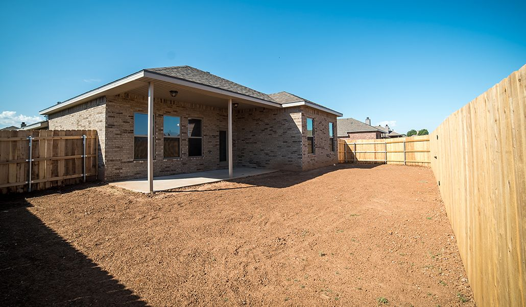 Exterior featured in the Diane By Betenbough Homes in Amarillo, TX