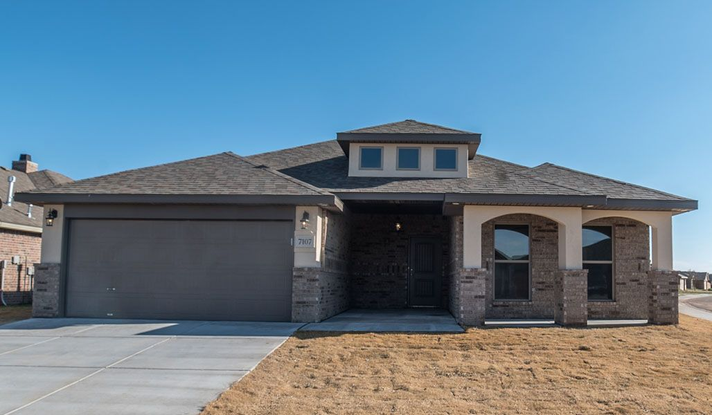 Exterior featured in the Carol Anne By Betenbough Homes in Midland-Odessa, TX