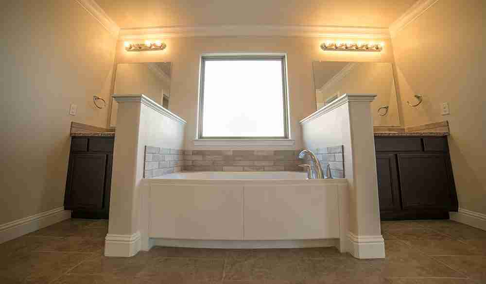 His and Hers Vanities and Garden Tub
