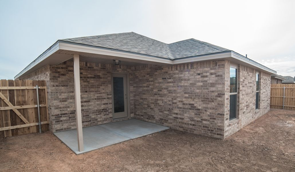 Exterior featured in the Tiffany By Betenbough Homes in Amarillo, TX