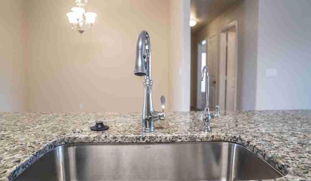 Kohler faucet and granite countertop