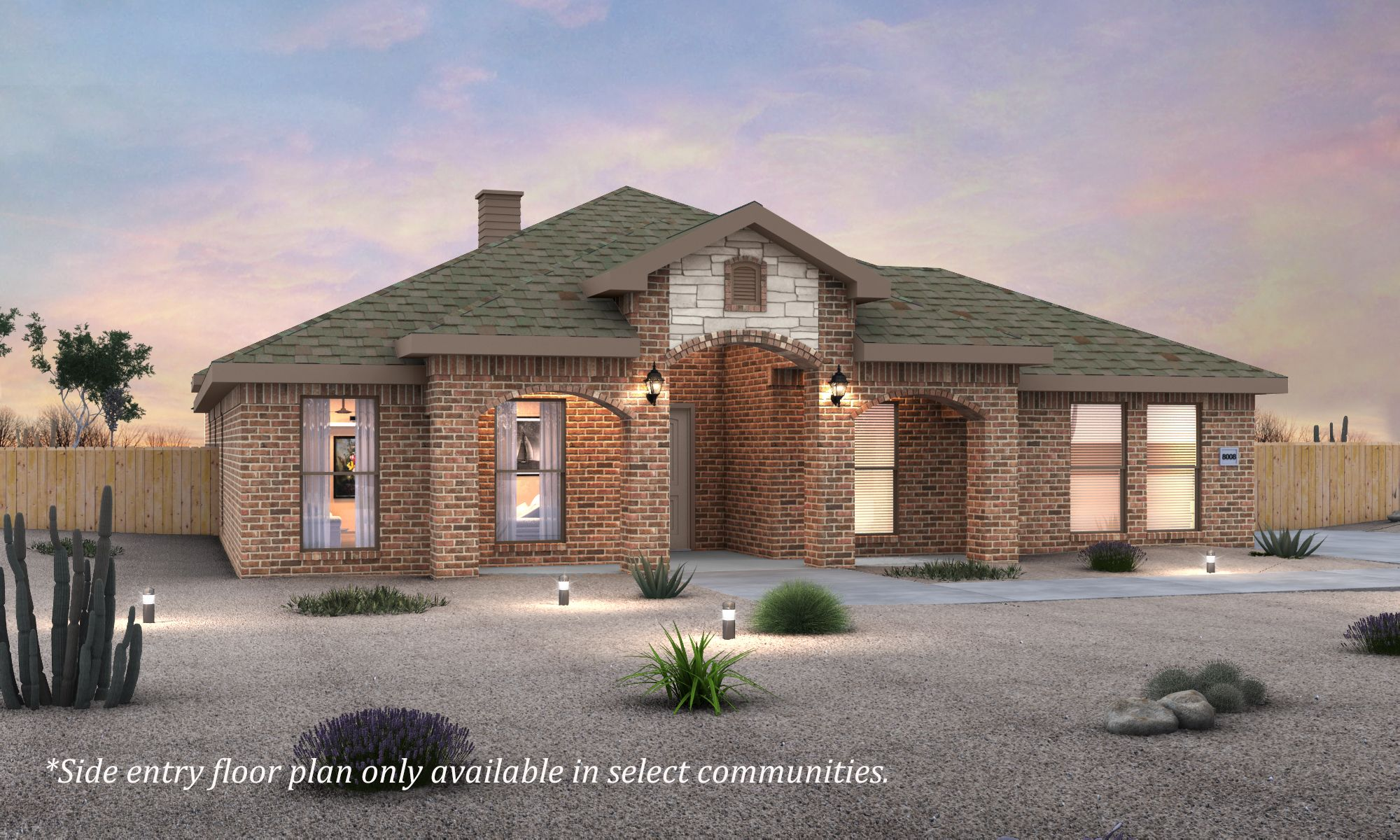 Exterior featured in the Renee By Betenbough Homes in Midland-Odessa, TX