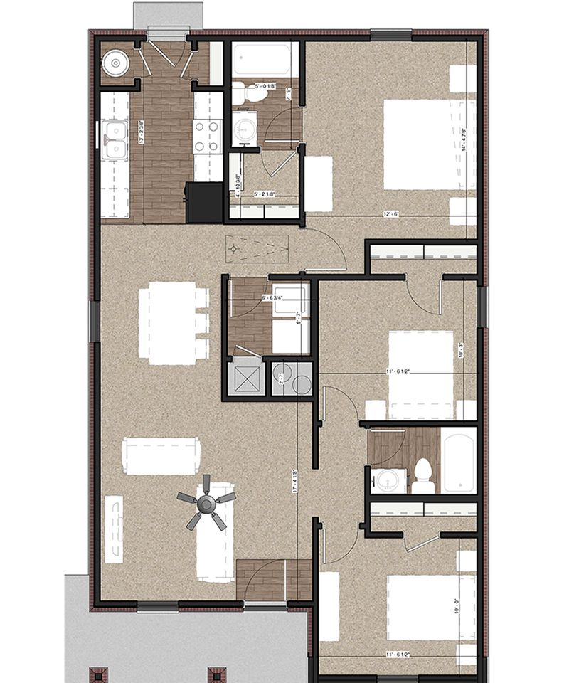 NL 1200 Floor Plan