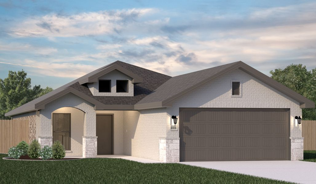 Exterior featured in the Kyla By Betenbough Homes in Amarillo, TX