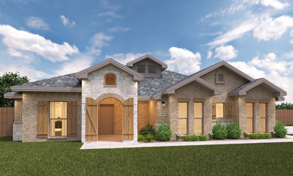 Exterior featured in the Sara Ann By Betenbough Homes in Midland-Odessa, TX