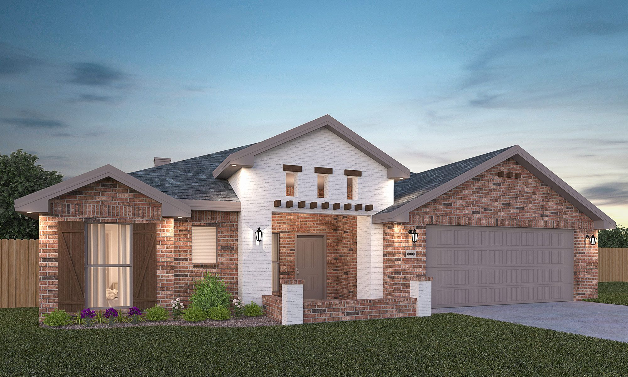 Exterior featured in the Amy By Betenbough Homes in Midland-Odessa, TX