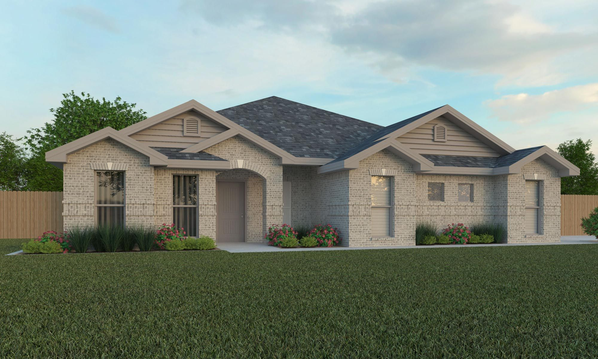Exterior featured in the Sandie By Betenbough Homes in Midland-Odessa, TX