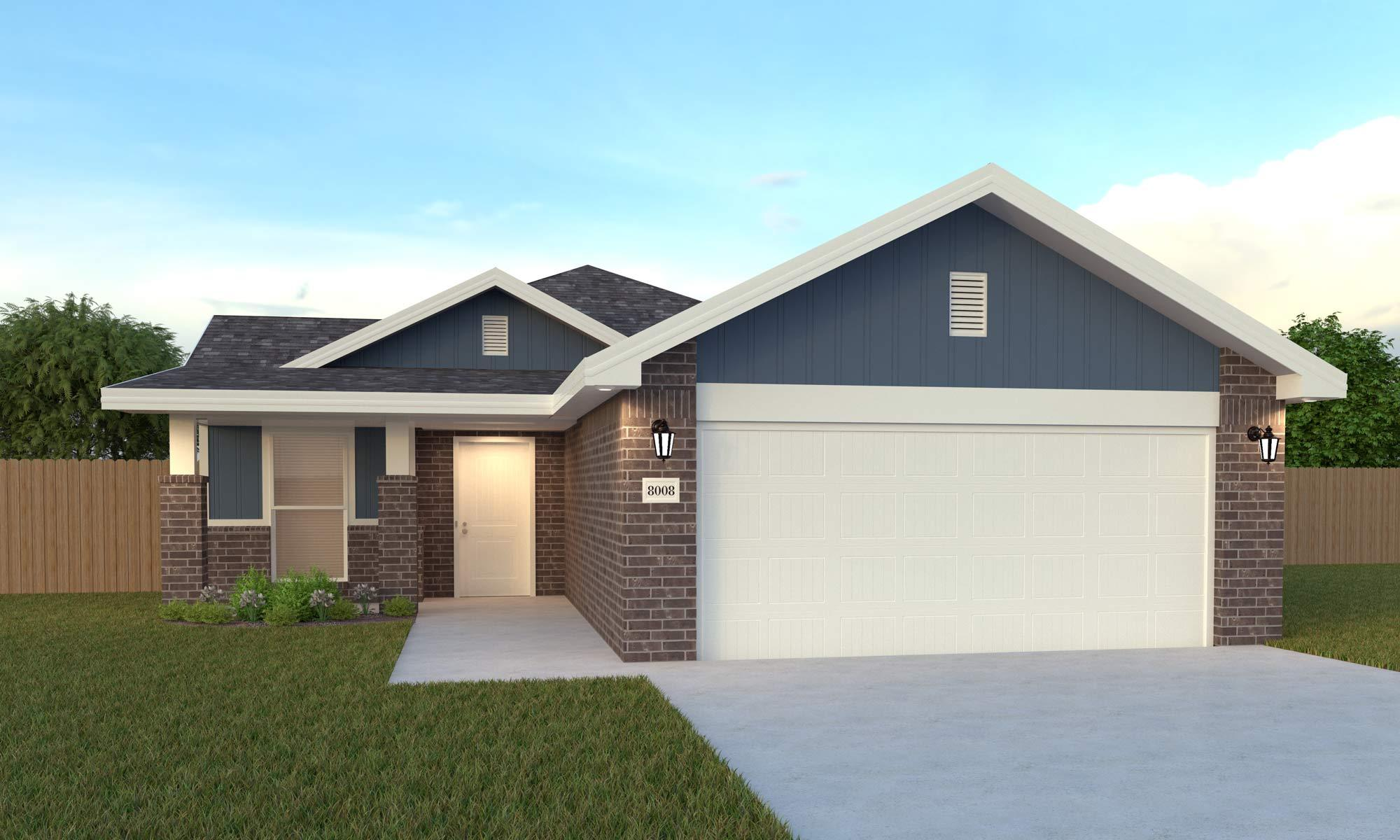 Exterior featured in the Amelia By Betenbough Homes in Amarillo, TX
