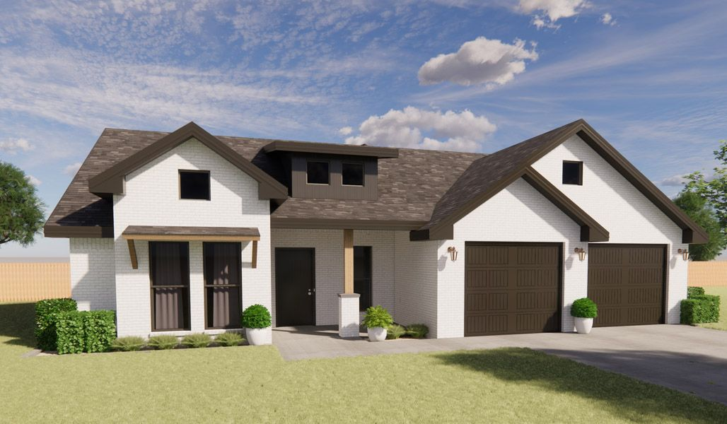 Exterior featured in the Linda By Betenbough Homes in Midland-Odessa, TX