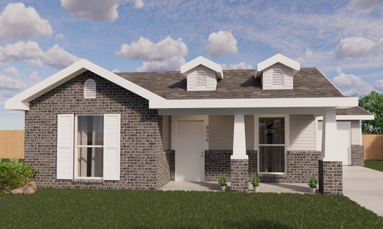 Exterior featured in the Annabeth By Betenbough Homes in Amarillo, TX