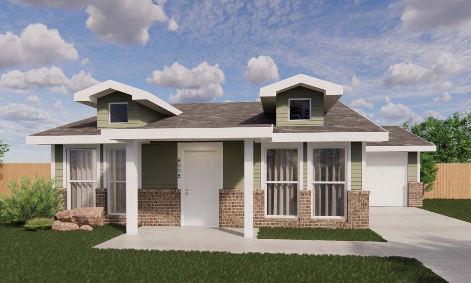 Exterior featured in the Brianna By Betenbough Homes in Amarillo, TX