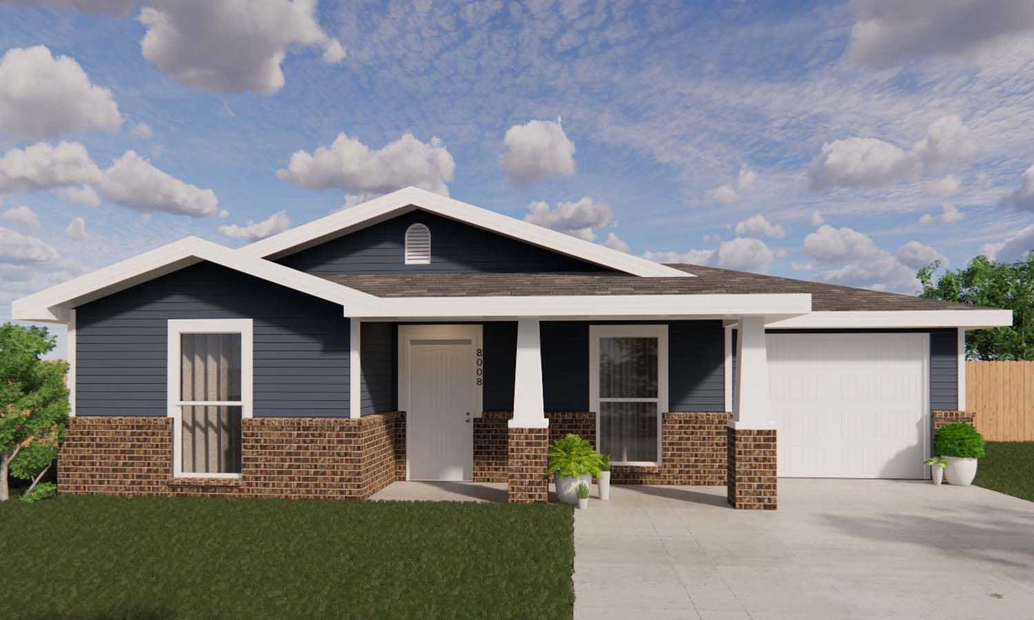 Exterior featured in the Maci By Betenbough Homes in Midland-Odessa, TX