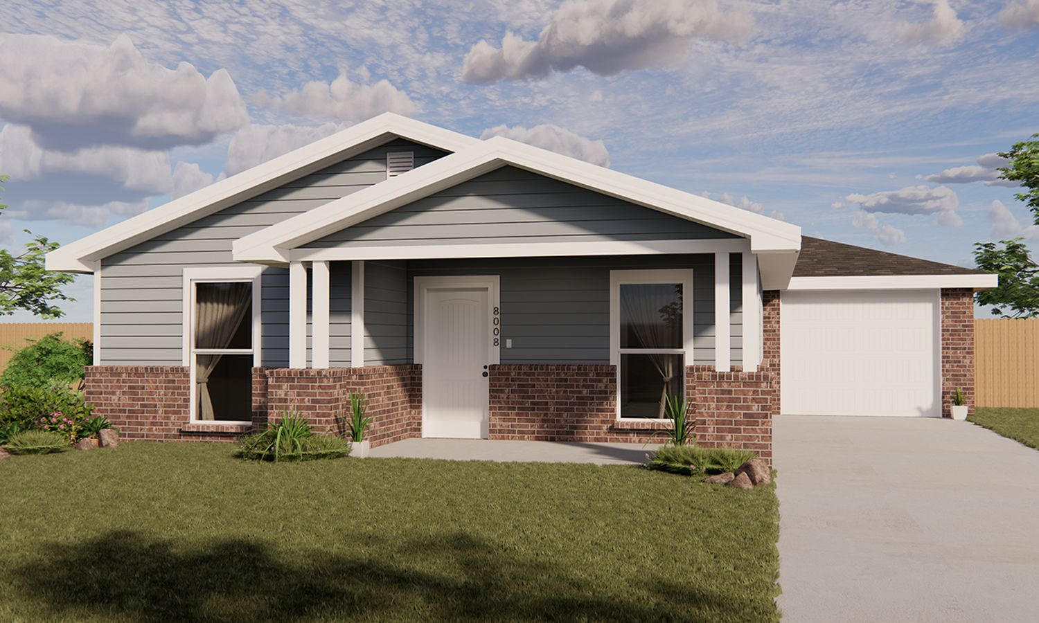 Exterior featured in the Isabella By Betenbough Homes in Midland-Odessa, TX