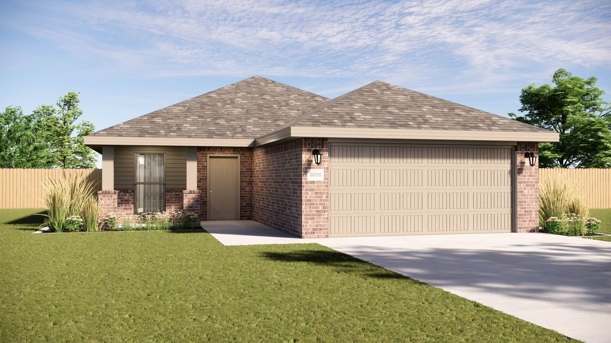 Exterior featured in the Tanya By Betenbough Homes in Midland-Odessa, TX