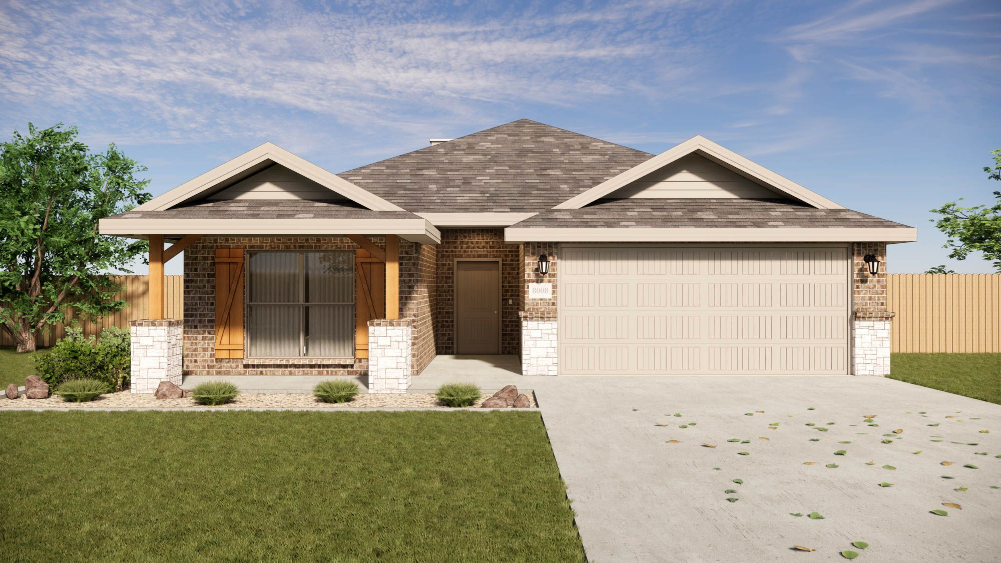 Exterior featured in the Katie By Betenbough Homes in Amarillo, TX