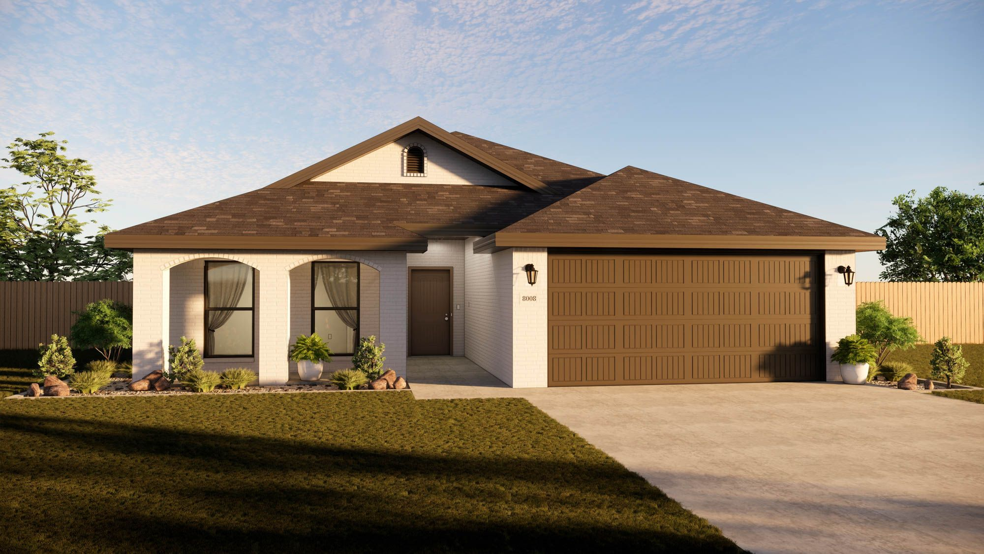 Exterior featured in the Marybel By Betenbough Homes in Midland-Odessa, TX