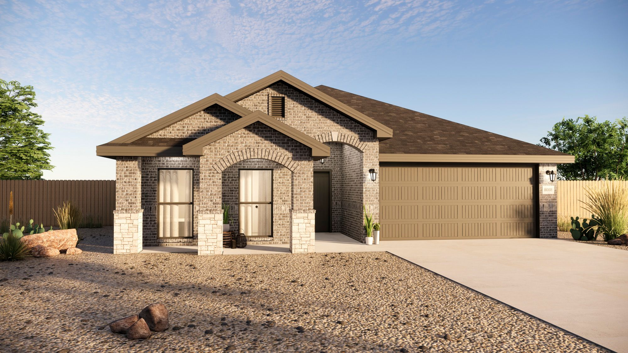 Exterior featured in the Layla By Betenbough Homes in Midland-Odessa, TX