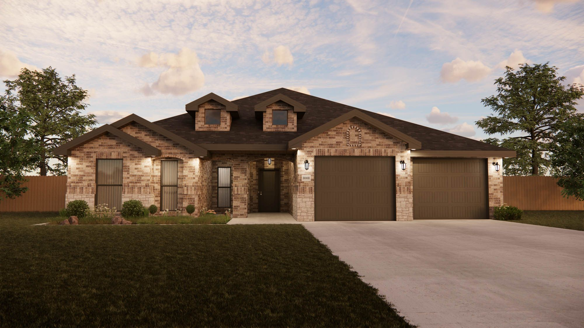 Exterior featured in the New Lady 2500 Classic Contemporary By Betenbough Homes in Amarillo, TX