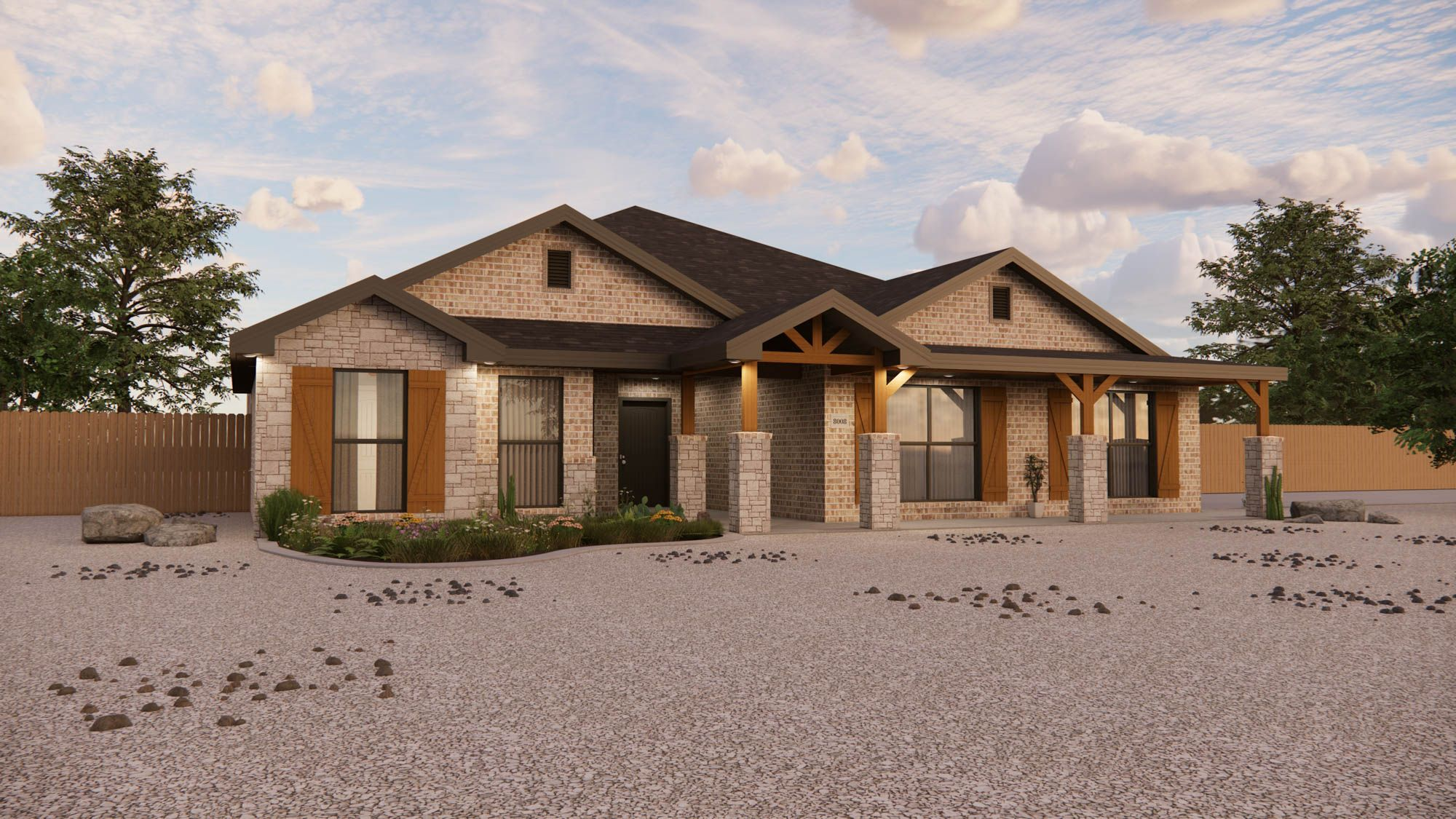 Exterior featured in the Jenny By Betenbough Homes in Amarillo, TX