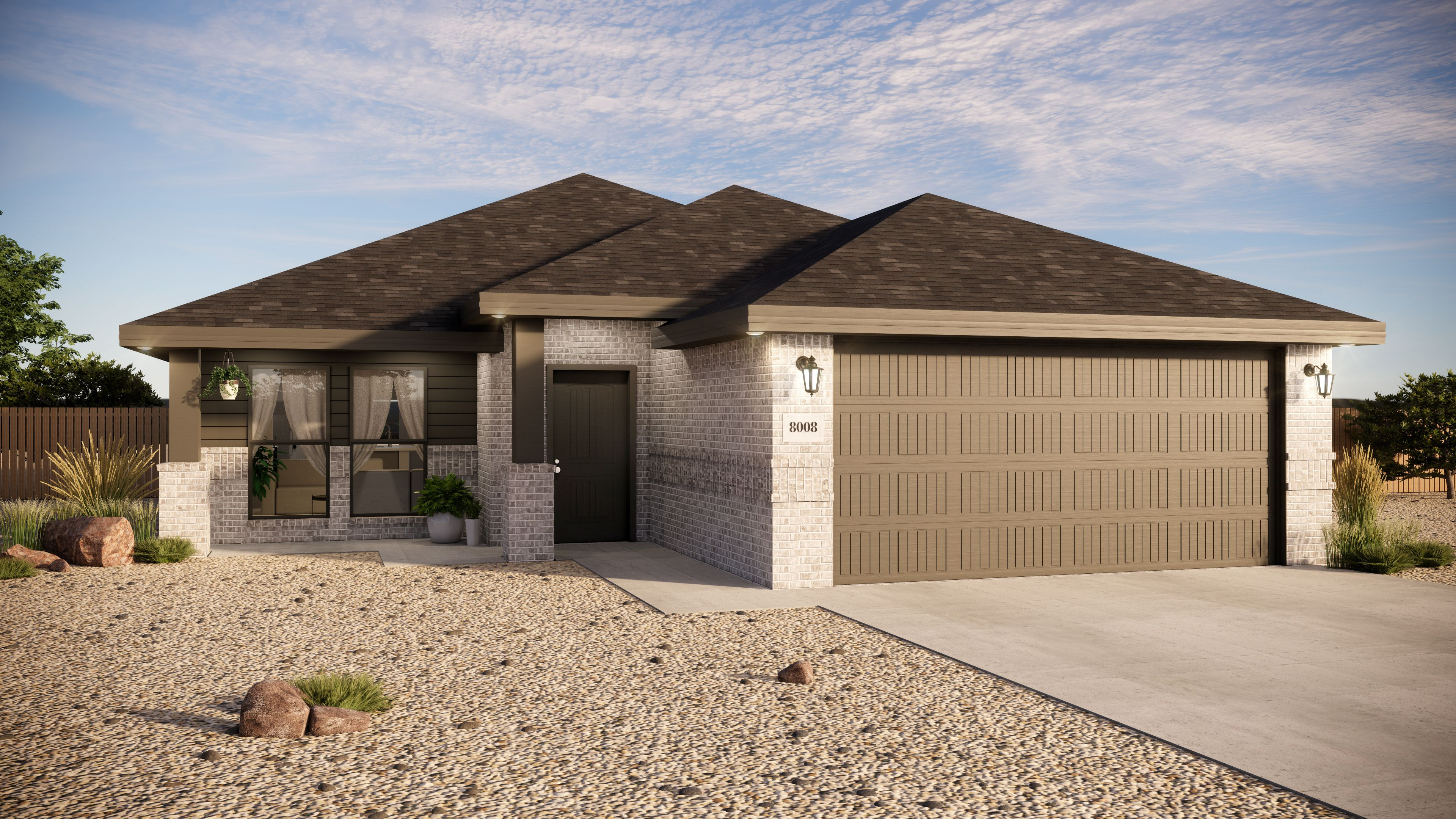 Exterior featured in the Caitlin By Betenbough Homes in Midland-Odessa, TX