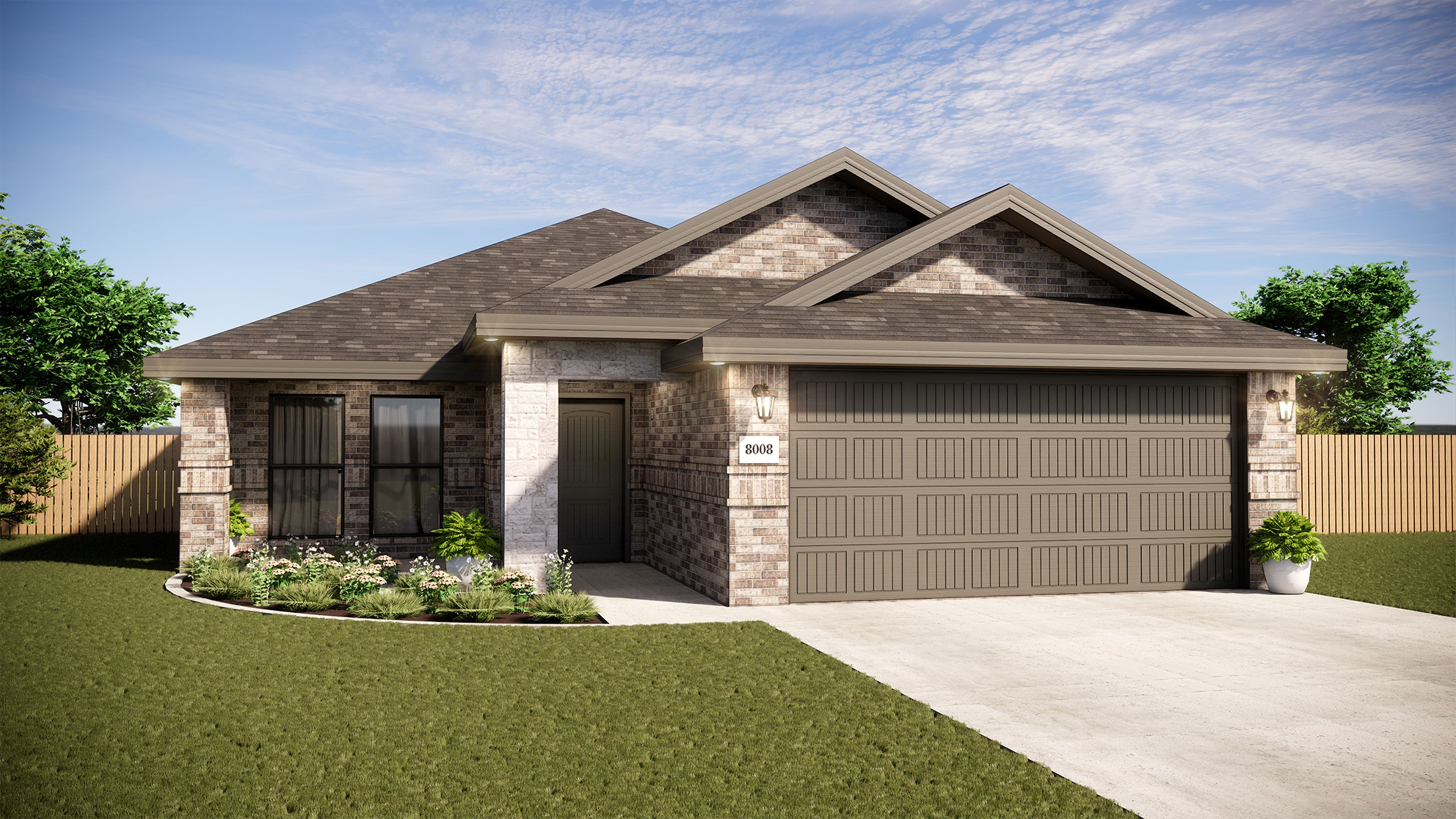 Exterior featured in the New Lady 1600-1C Stone Ranch By Betenbough Homes in Midland-Odessa, TX