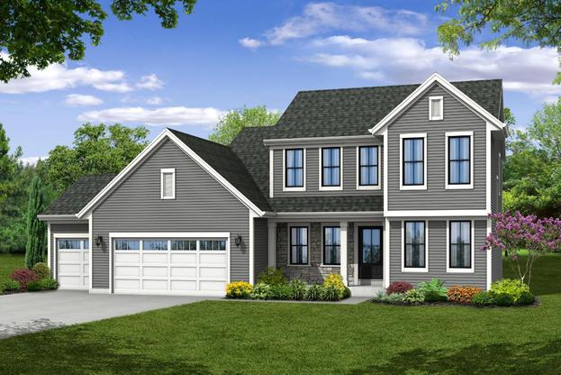 New England Farmhouse with 3-Car Garage