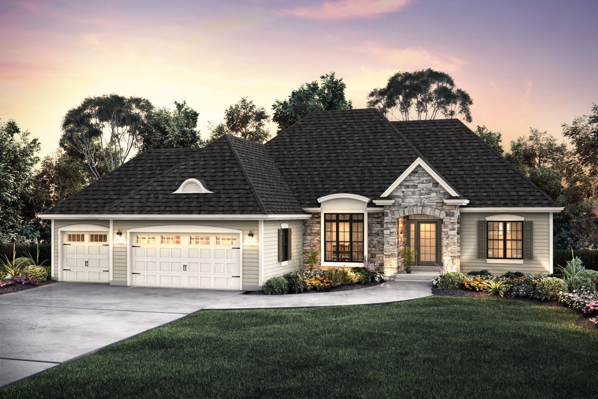 Exterior featured in The Clemont, Plan 2304 By Bielinski Homes, Inc. in Ozaukee-Sheboygan, WI