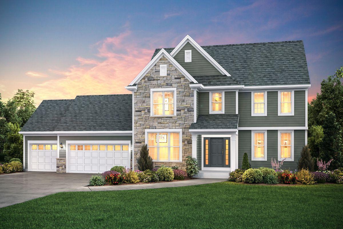 Exterior featured in The Hallmark, Plan 2544 By Bielinski Homes, Inc. in Milwaukee-Waukesha, WI