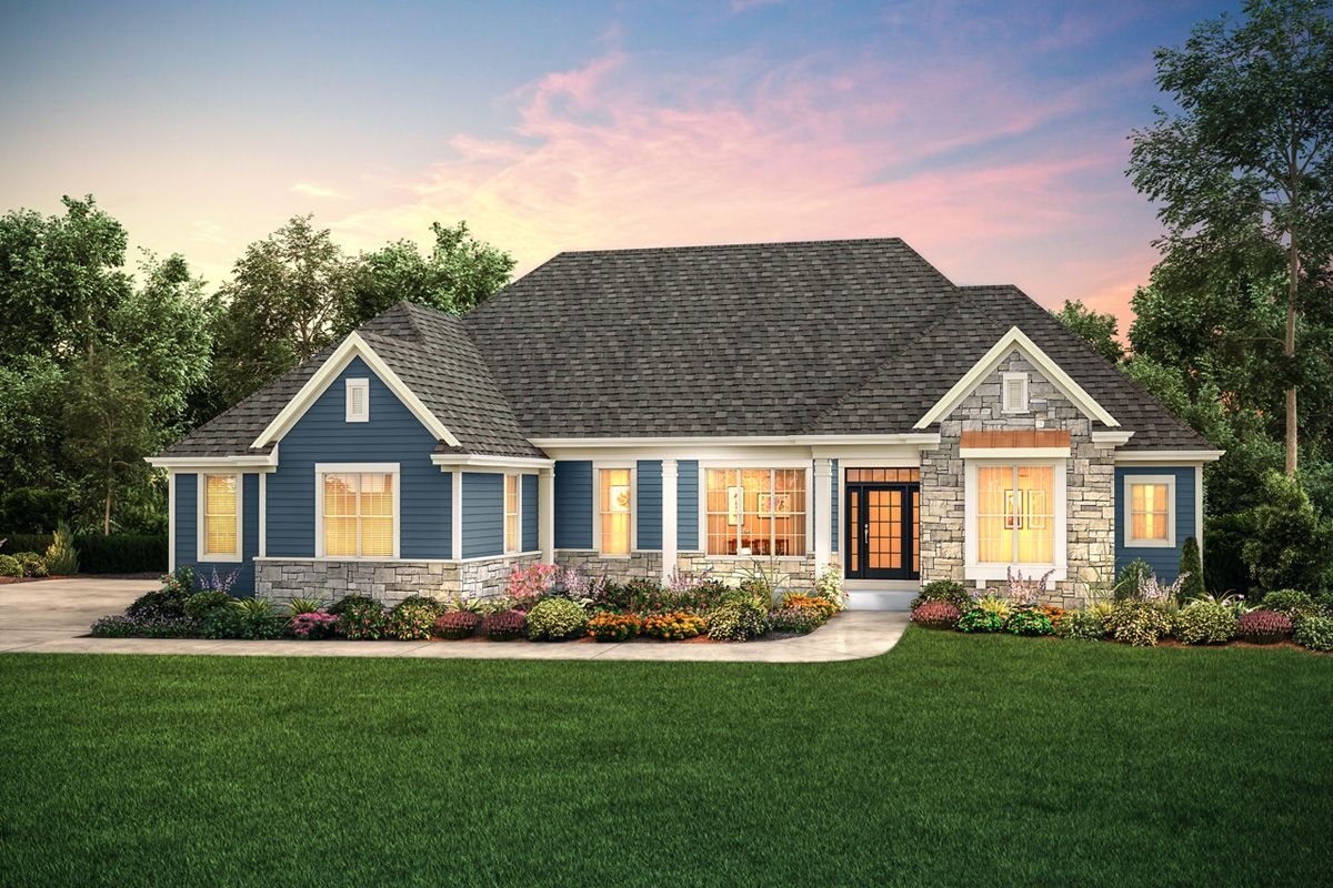 Exterior featured in The Independence, Plan 2300 By Bielinski Homes, Inc. in Ozaukee-Sheboygan, WI