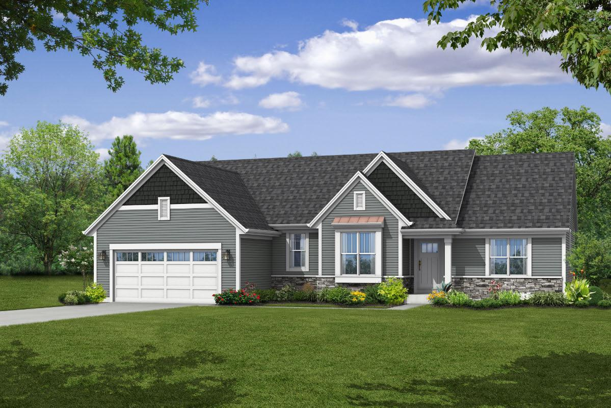 Exterior featured in The Peyton, Plan 1815 By Bielinski Homes, Inc. in Racine, WI