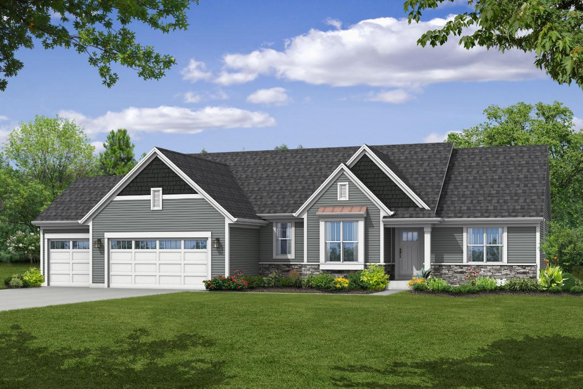 Exterior featured in The Peyton, Plan 1880 By Bielinski Homes, Inc. in Ozaukee-Sheboygan, WI
